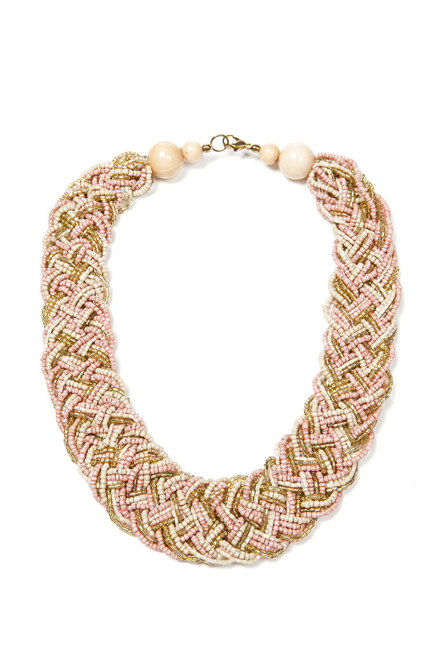 hearts woven necklace