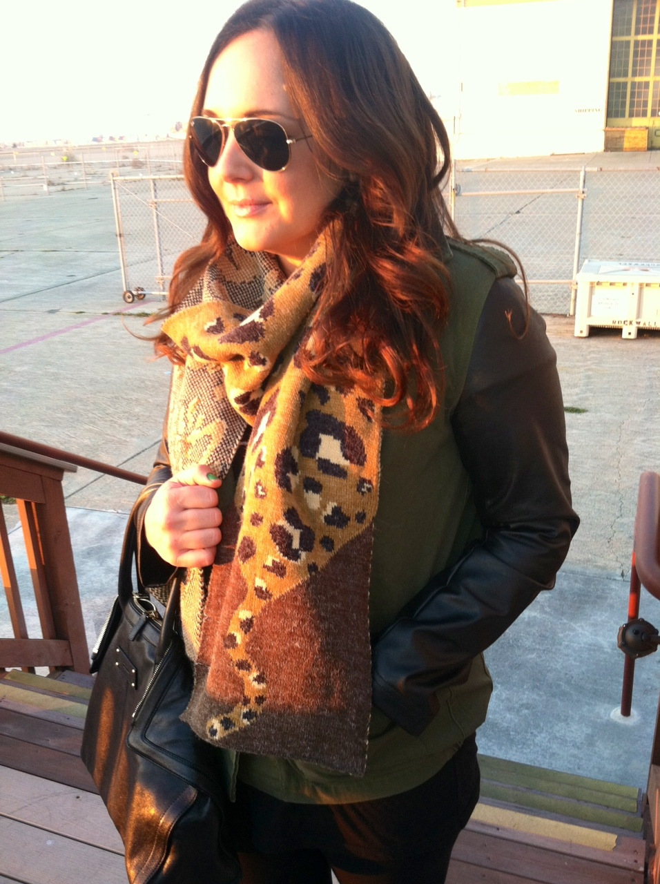 urban outfitters leopard scarf