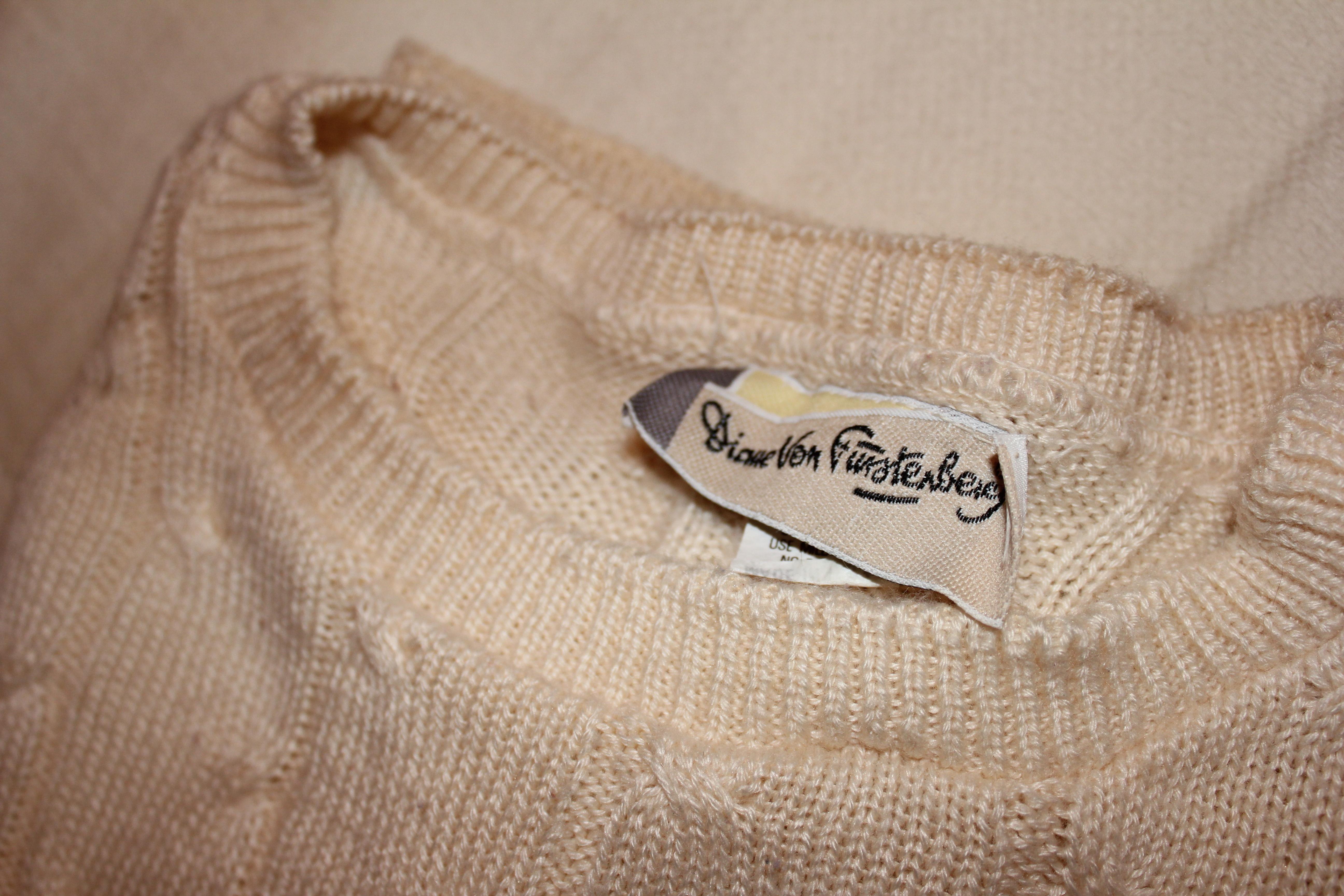 vintage DVF sweater