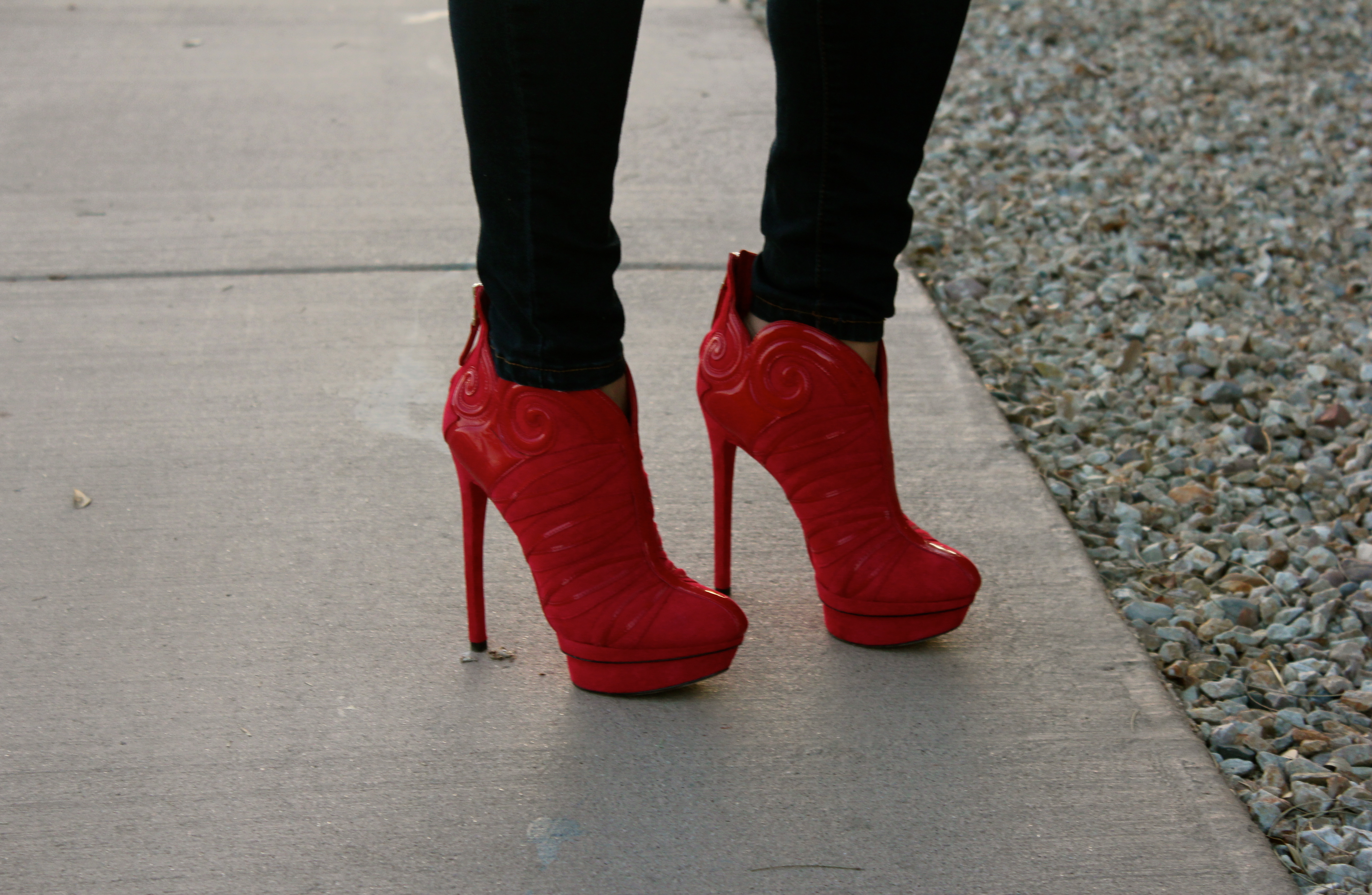 brian atwood figara red bootie