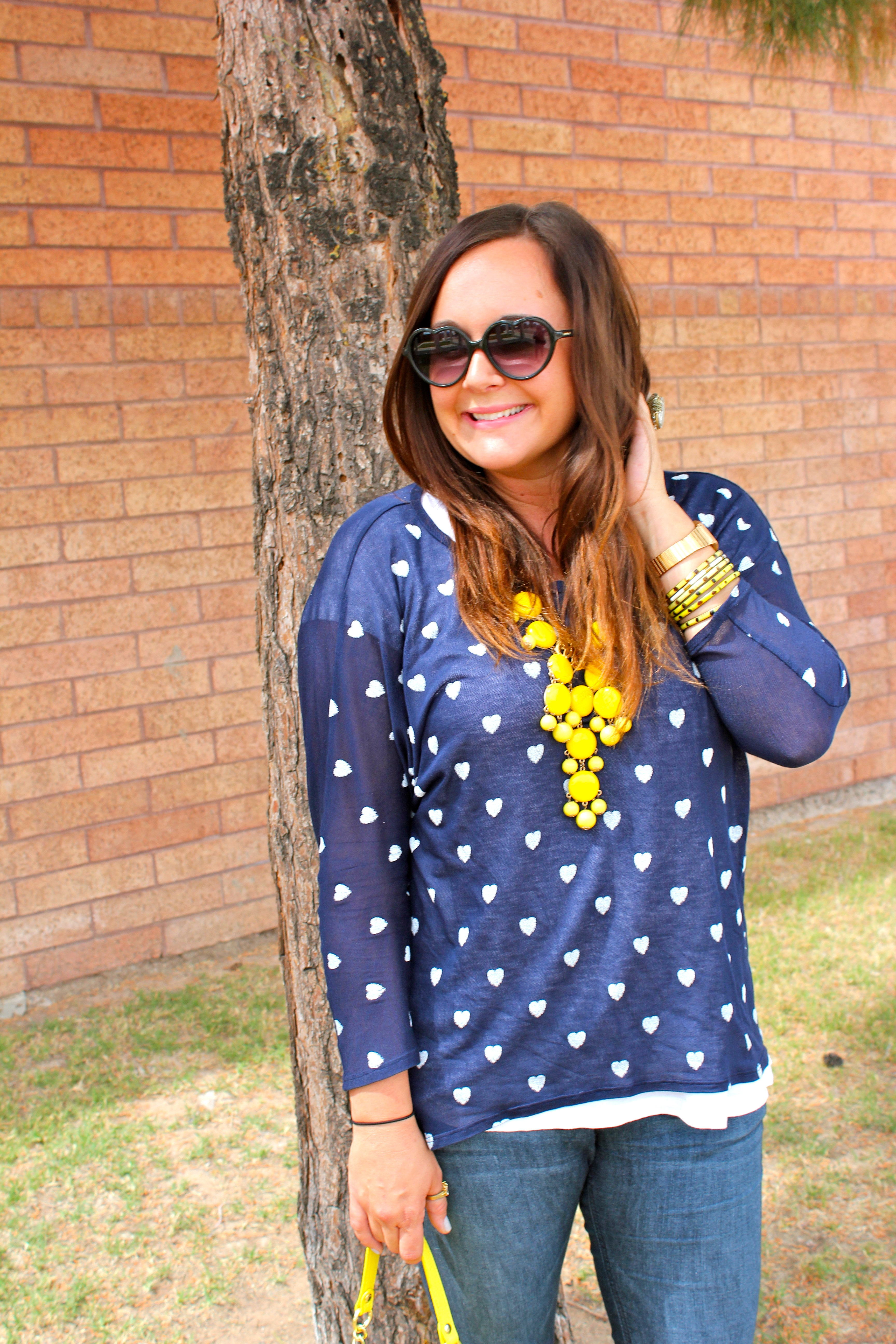 big star heart blouse