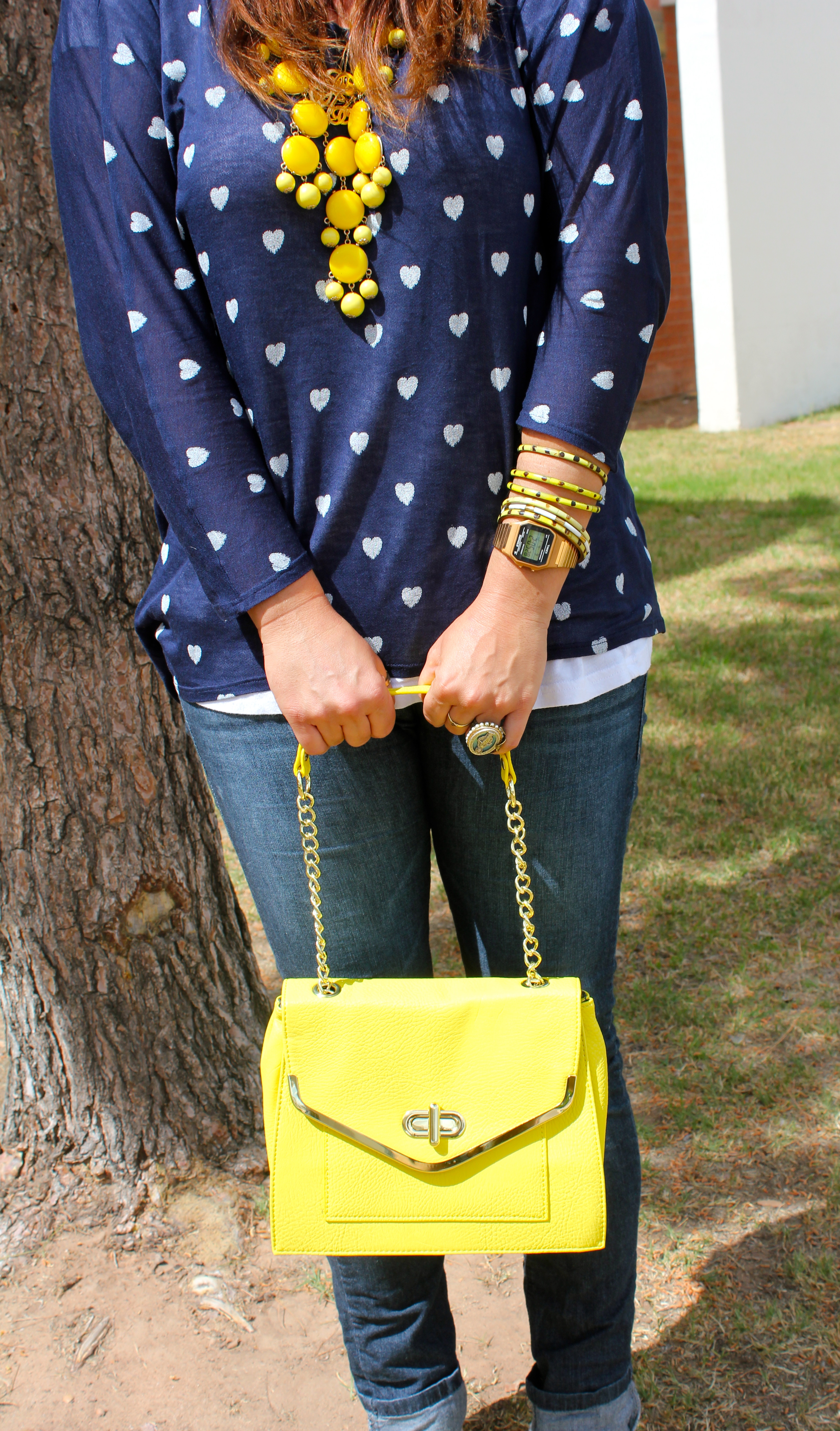 big star shirt, yellow bauble