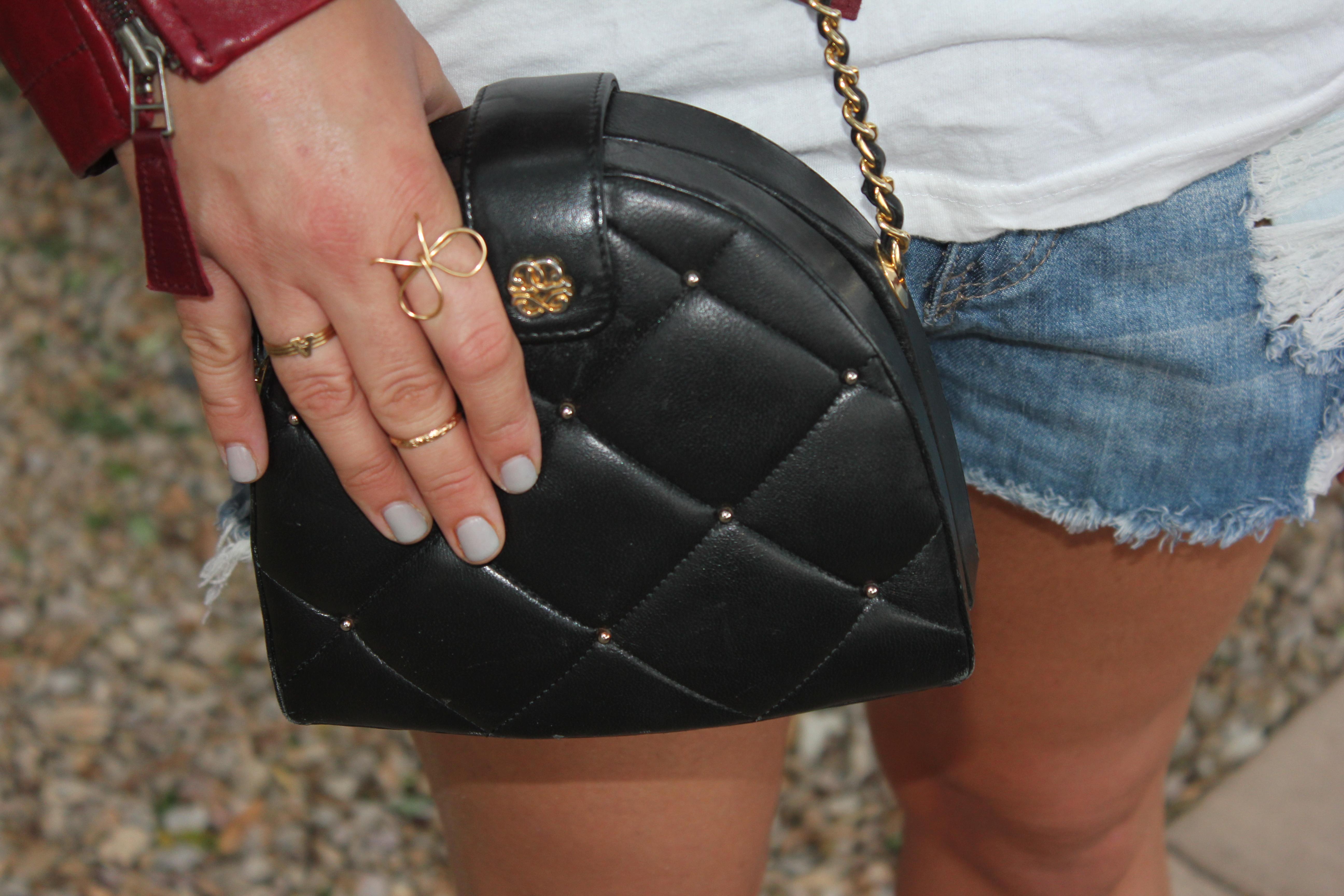 vintage chain handbag
