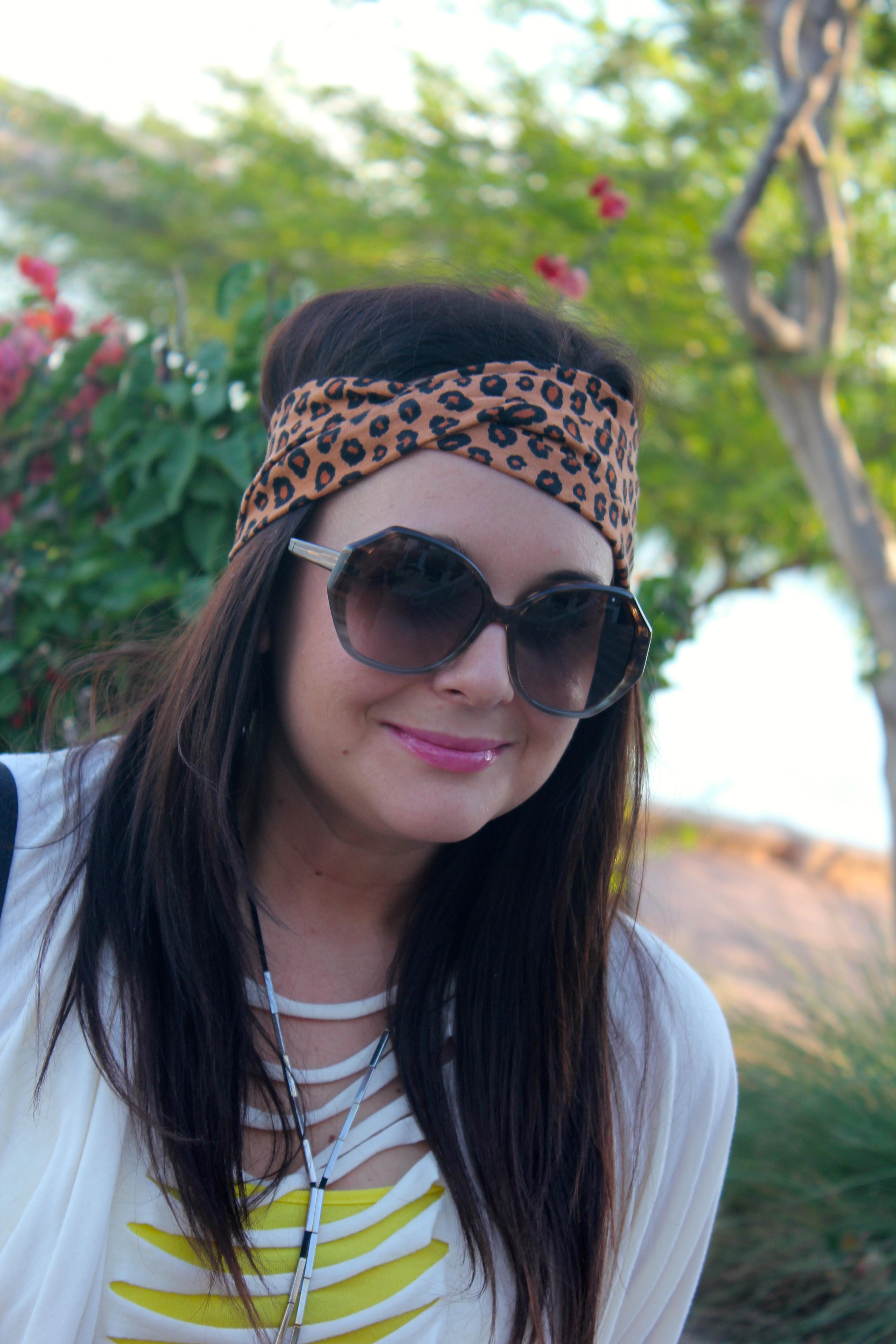 the pink ruffle headband