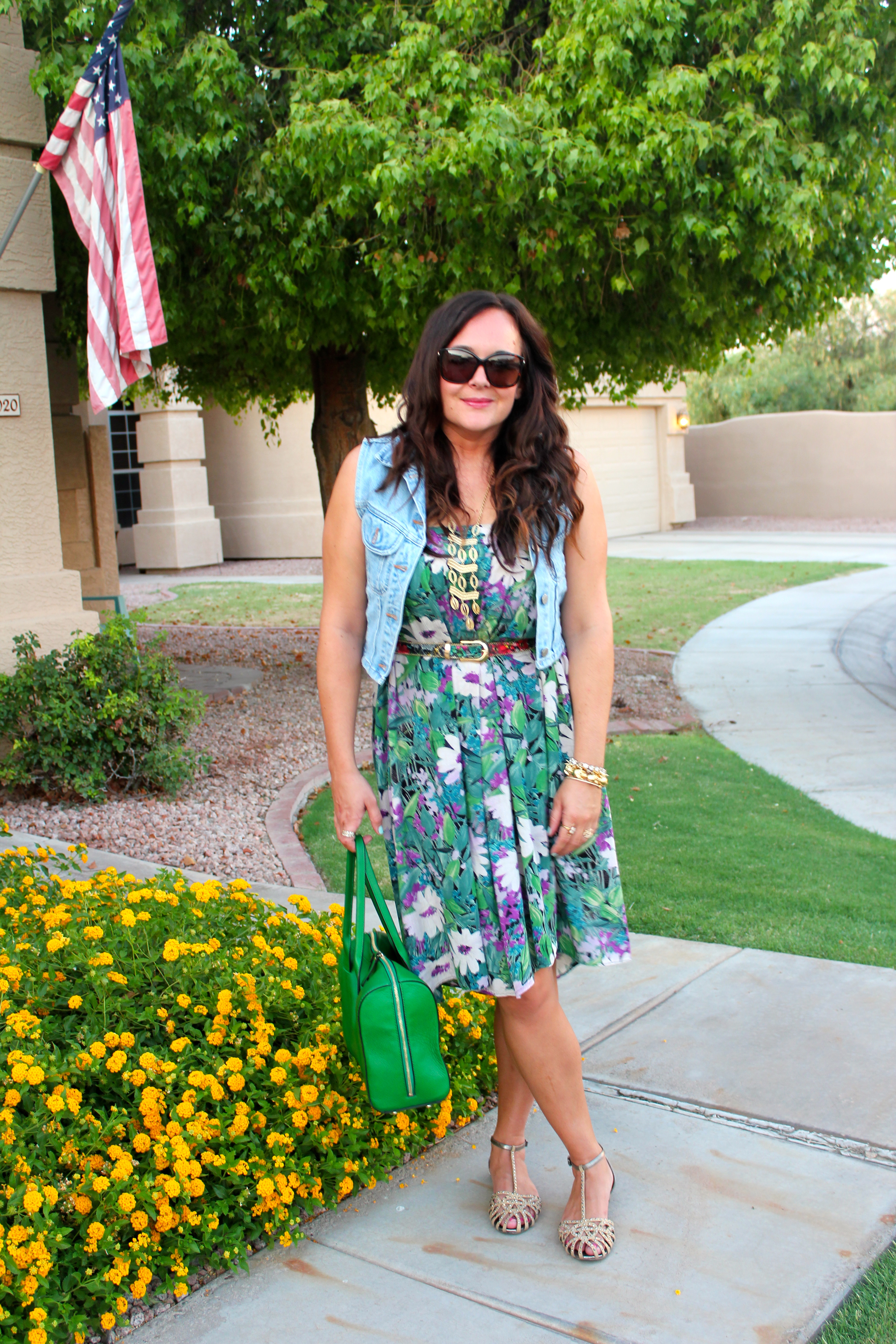 green kate spade bag